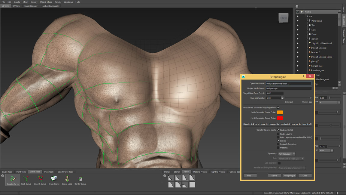 Advanced retopology tools