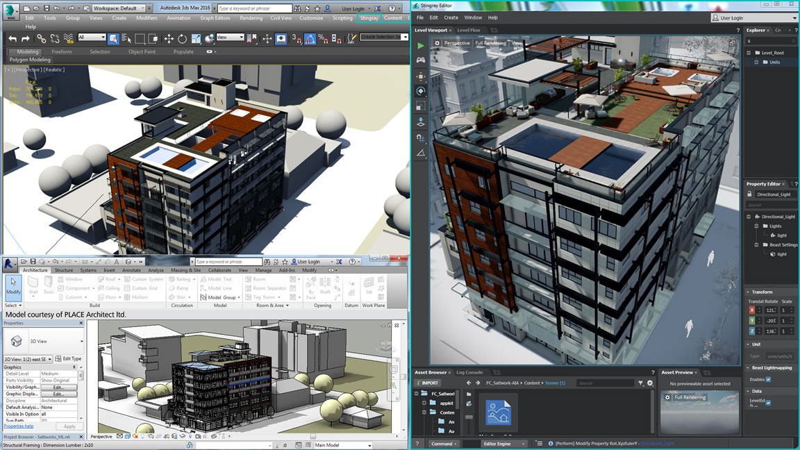 Easy workflow from BIM to interactive