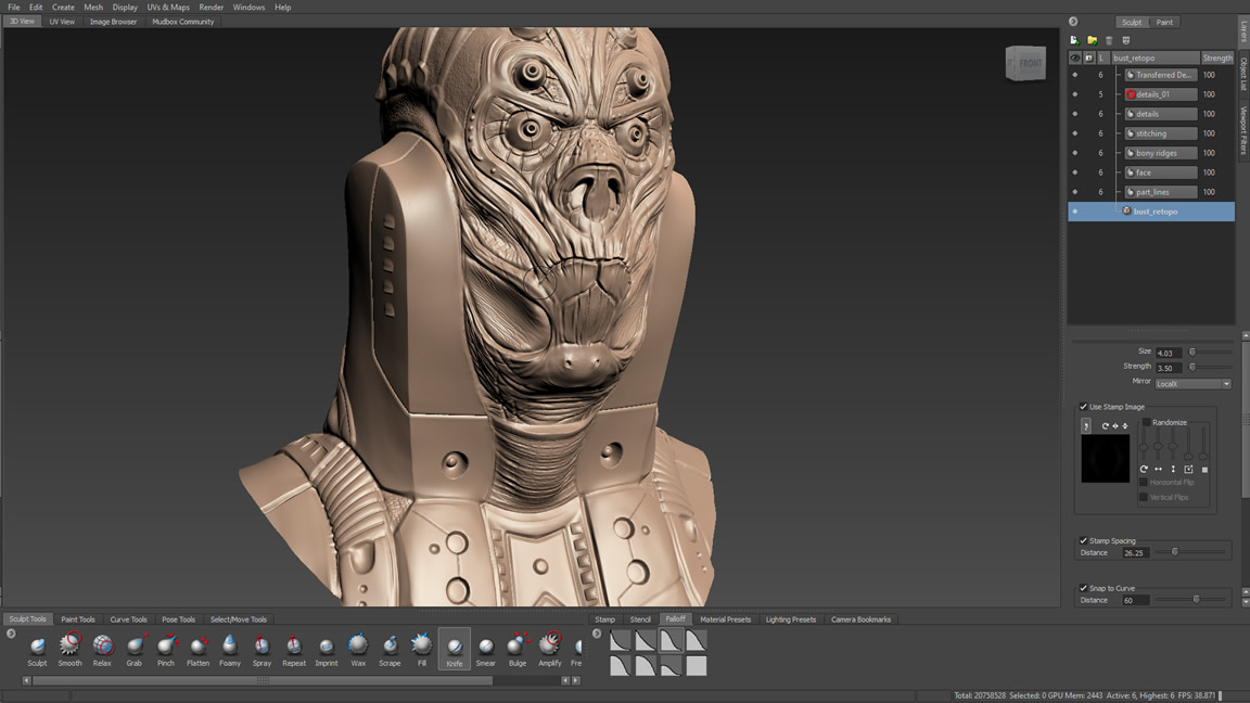 Professional digital sculpting