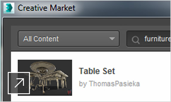 Integrated Creative Market 3D content store